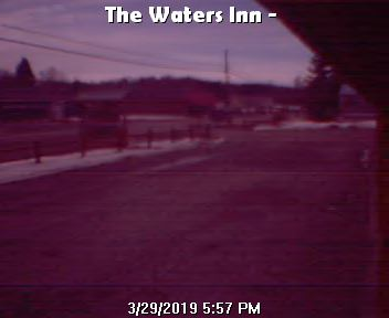 Webcam cam view looking at Highway Old 27 and The Waters Inn in Waters Michigan
